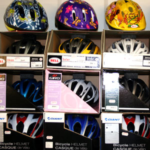 Bike accessories: cycle helmets